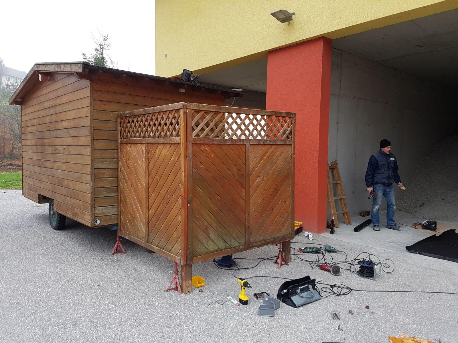 Zubau zu unserer mobilen Hütte